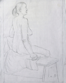 This summer I attended Columbus College of Art and Design's three week College Preview program. There, I engaged in my first figure drawing class. This is one of my highlights of the class, my first basic line drawing.